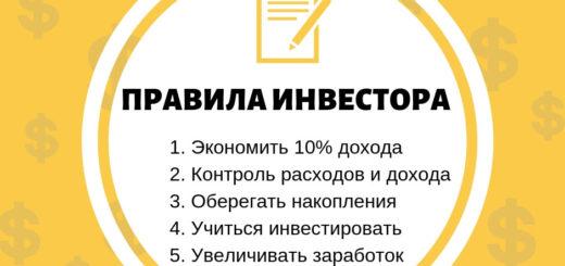 Список правил инвестора