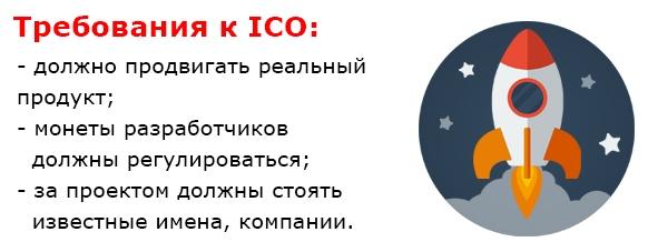 Требования к ico