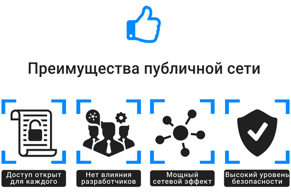 Преимущества публичной сети
